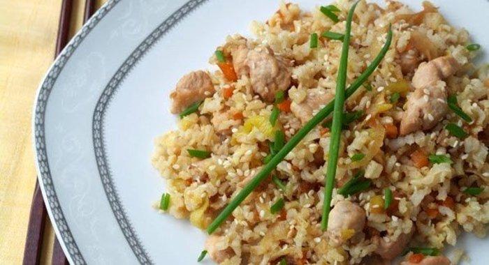 Рис чесночный с курицей рецепт с пошагово
