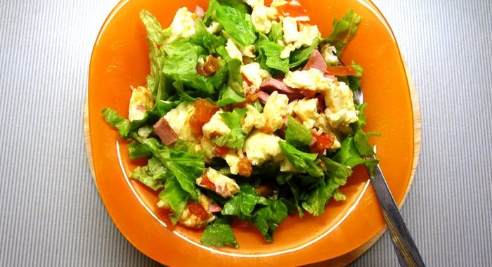 вкусные салаты омлетом рецепты с фото