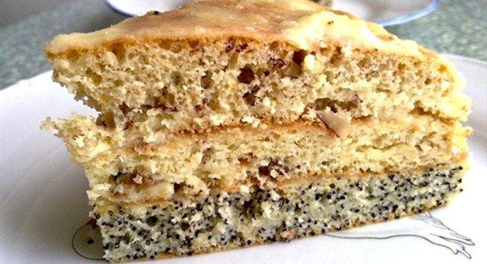 Рецепт торта с орехами маком и изюмом с пошагово