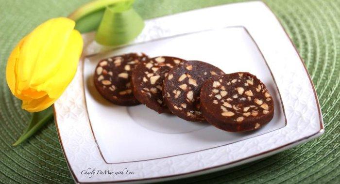 Колбаса шоколадная пошагово