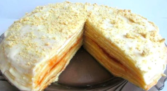 Блинный торт со сметанным кремом рецепт с пошагово в домашних условиях