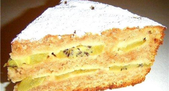 Пирог с киви рецепт с фото простой