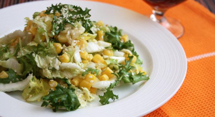 Салат с кукурузой консервированной с пошагово