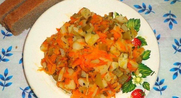 Легкий салат из картофеля