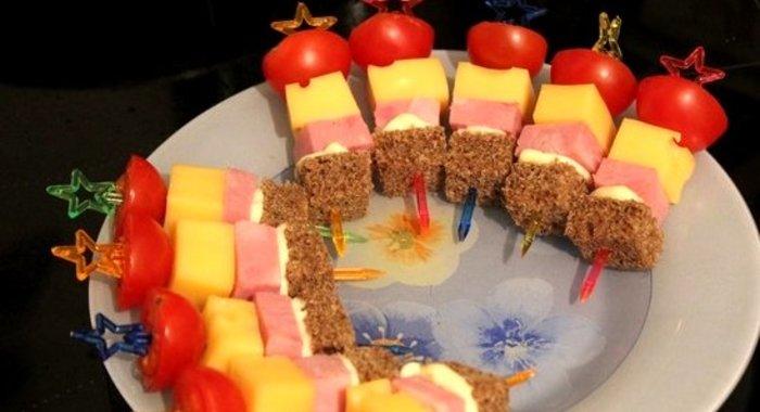 Как сделать канапе для детей на шпажках рецепты с фото