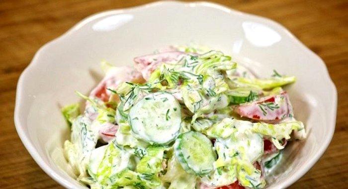 Красивые рецепты овощных салатов
