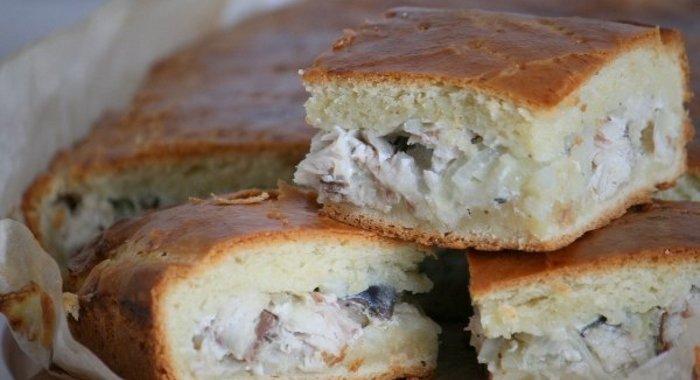 Рецепт пирога с скумбрией