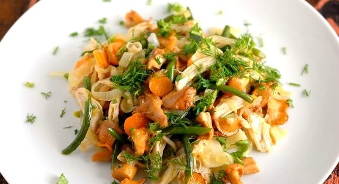 Салат лисичка рецепт с пошагово в