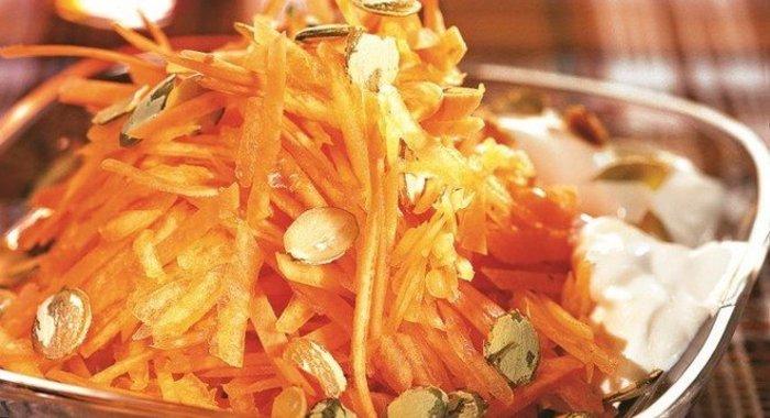 Салаты из тыквы рецепты с фото пошагового приготовления