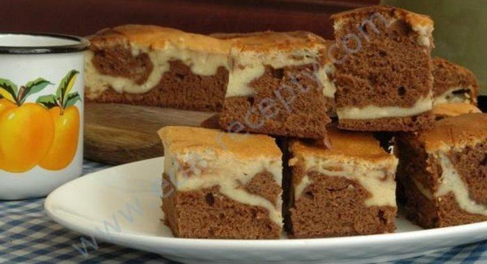 Мраморный пирог рецепт с фото пошагово сильный