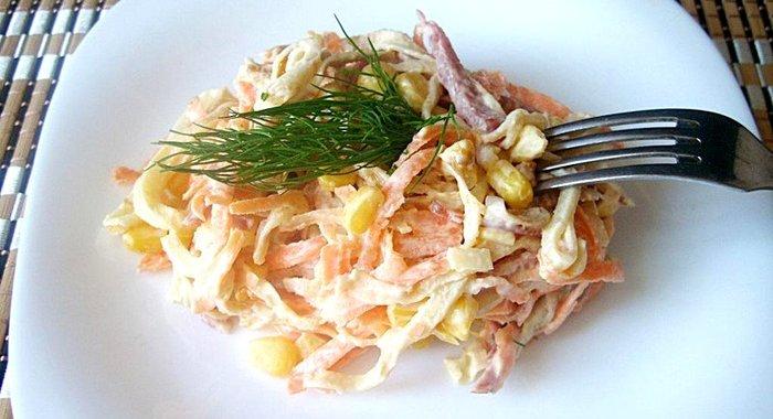 Рецепт блинов на салат блинный