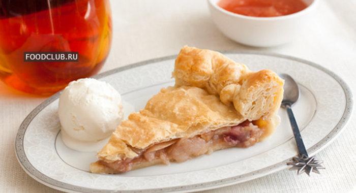 Яблочный пирог из слоеного теста рецепт пошагово в духовке