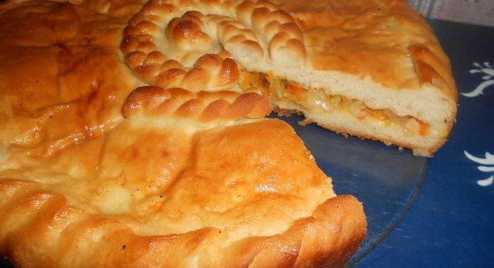 Рецепт пирога с капустой и мясом на дрожжевом тесте в духовке рецепт с