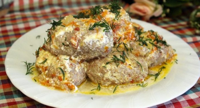 Ленивые голубцы в сметанном соусе в мультиварке рецепт пошагово