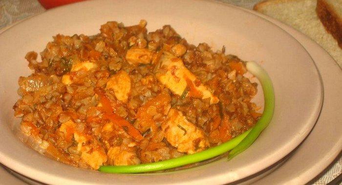 Рецепт гречки с куриным филе фото