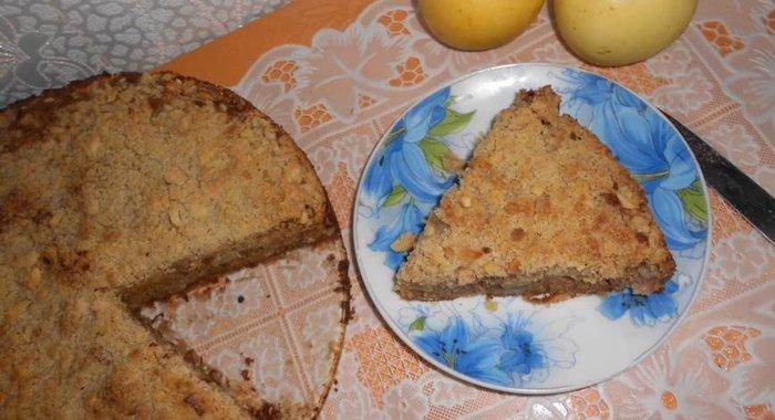 Шарлотка с яблочным вареньем рецепт с фото