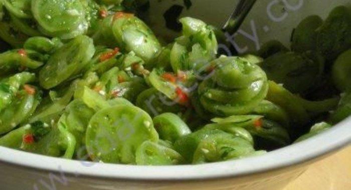 Лучшие рецепты из зеленых помидор пошагово с фото