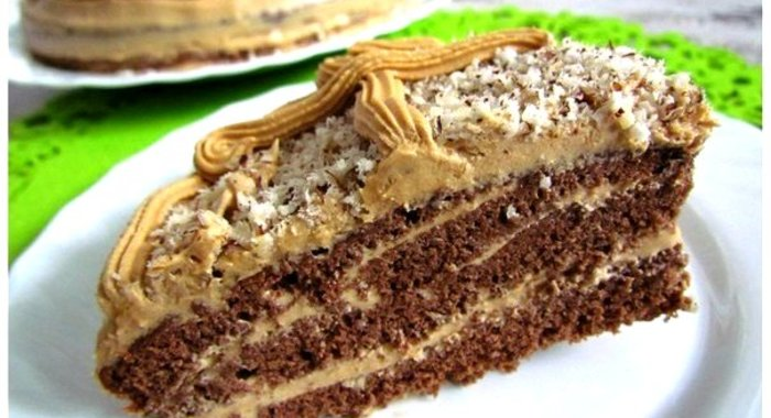 Шоколадный торт крем из сгущенки