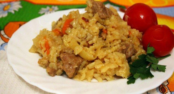 Каша рисовая с мясом рецепт с пошагово