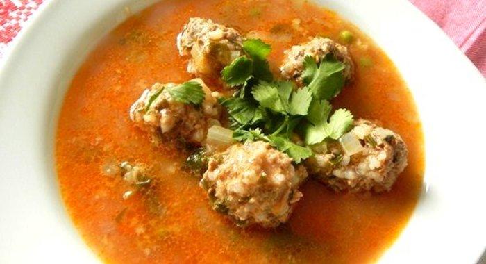 Суп с куриными тефтелями рецепт с фото