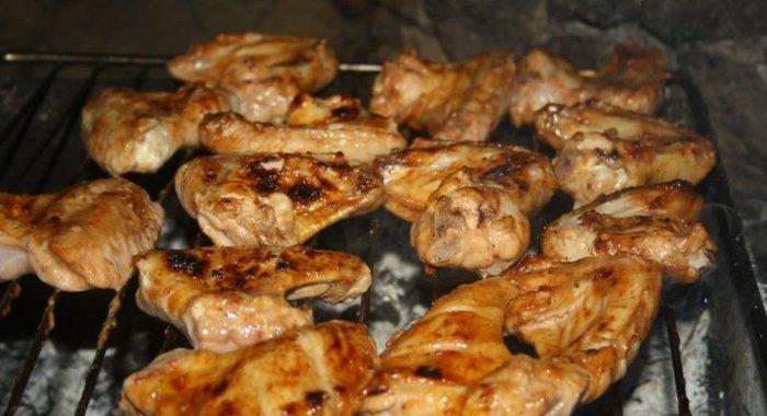 Рецепт крылышки гриль в духовке на решетке