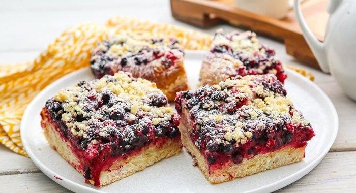 Пирог из черники простой рецепт с