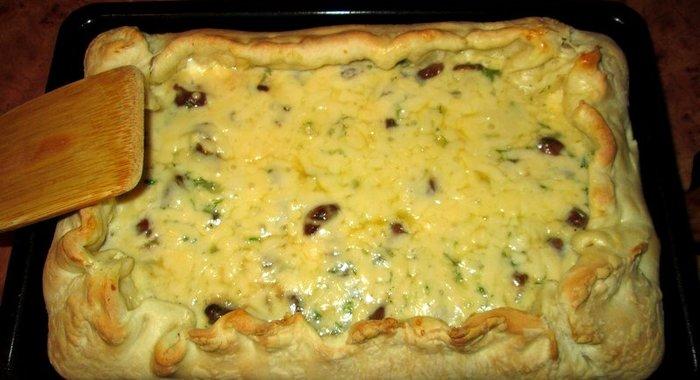 Пирог открытый с сыром рецепт с фото пошагово