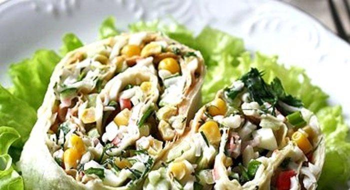 Салат с лавашом рецепты с простые и вкусные