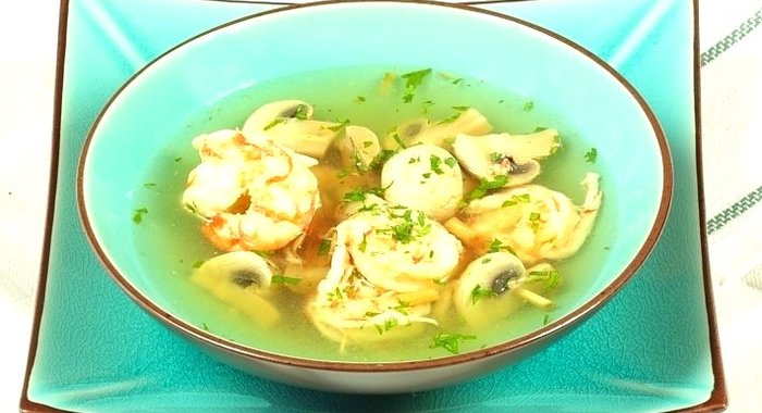 Рецепты супов с креветками с пошагово