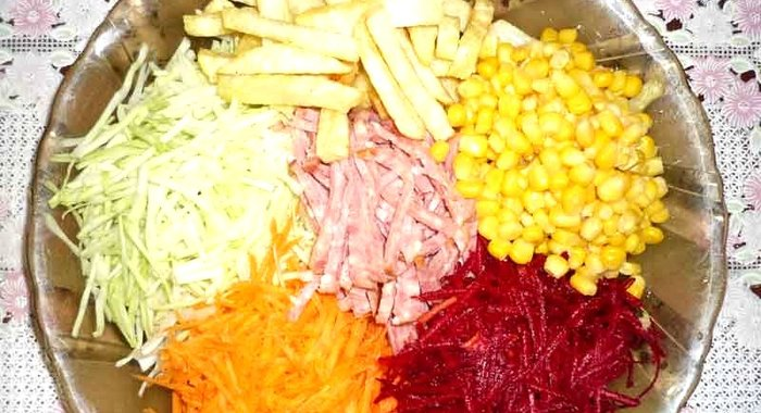Салат козел огороде рецепт