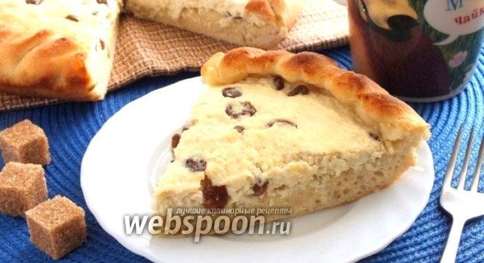 Открытый пирог с творогом рецепты пошагово