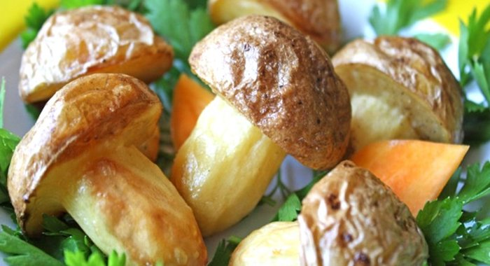 Грибочки из картошки рецепт с фото
