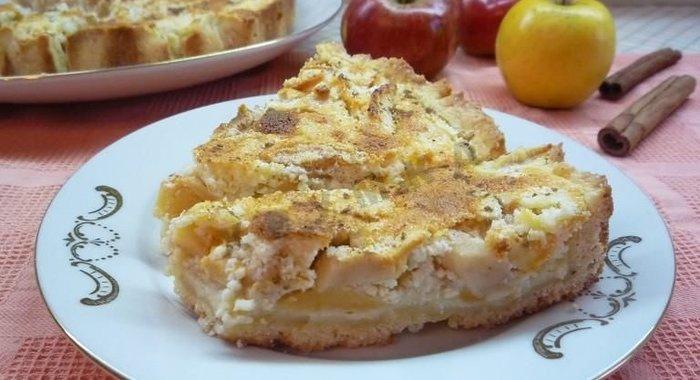яблочный пирог с творогом рецепт-хв4