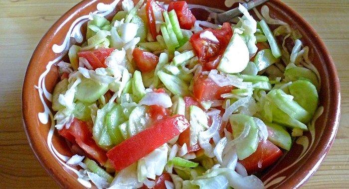 Летние салаты с простые и вкусные