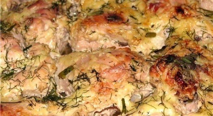 Курица с картошкой в духовке с кефиром рецепт с пошагово