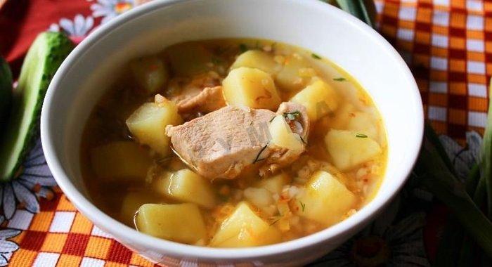 Суп гречневый с курицей рецепт с фото пошагово