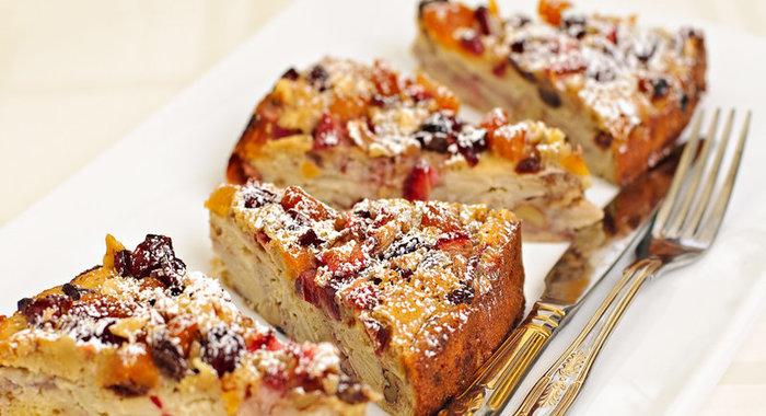 Простой пирог с фруктами рецепт с