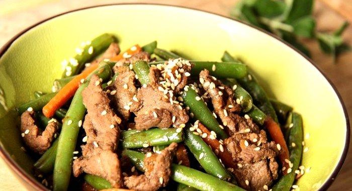 Мясо с фасолью стручковой рецепт с фото