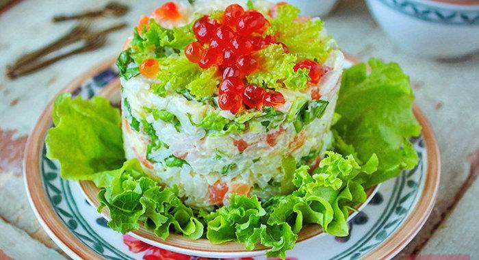 Салаты рецепт с фото пошагово