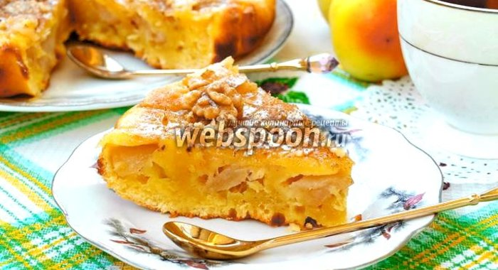 Рецепты пирог с яблоками на сметане рецепт с