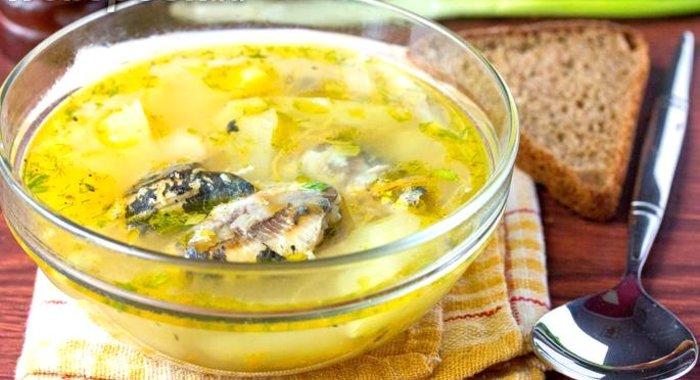Рецепт вкусного супа из рыбных консервов