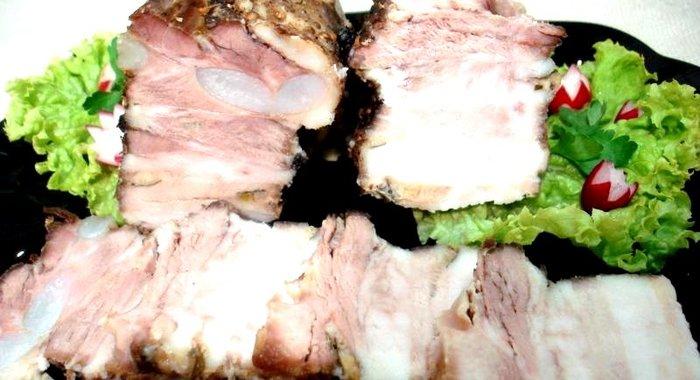 Рецепты из свиной грудинка пошаговое фото
