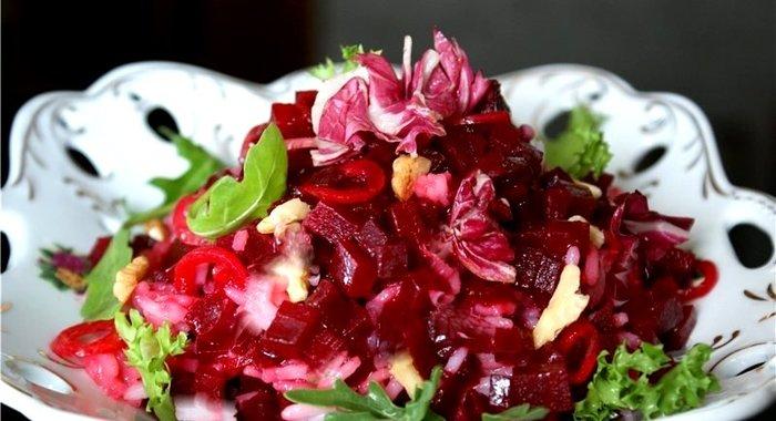 Салат из свеклы и цветной капусты