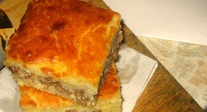 Как приготовить пирог с фаршем и кефиром