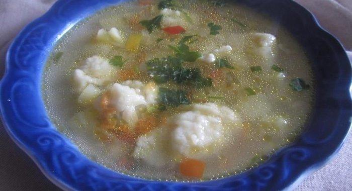 Суп с клецками пошаговый с