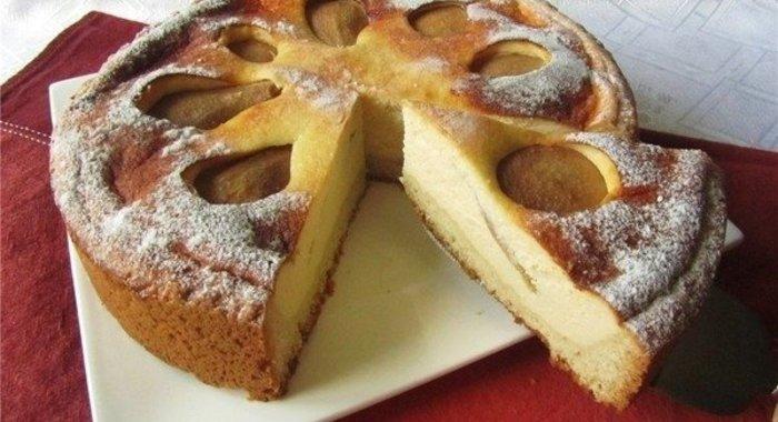 Груша пирог рецепт с пошагово в