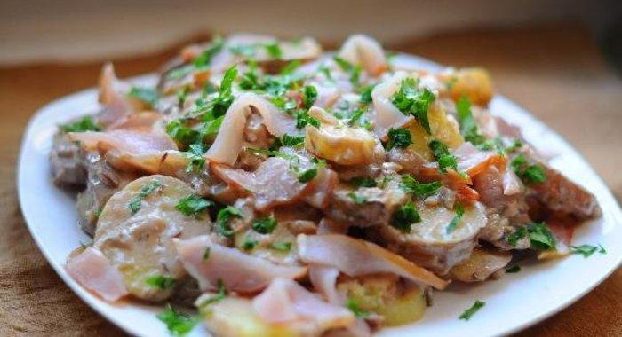 салат тиффани рецепт с фото с грибами