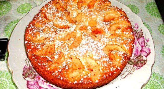 Пирог с яблоками на простокваше рецепт