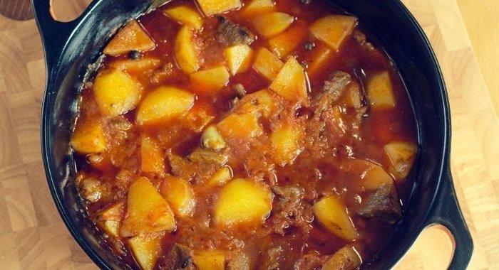 картошка мясом пошаговый рецепт фото
