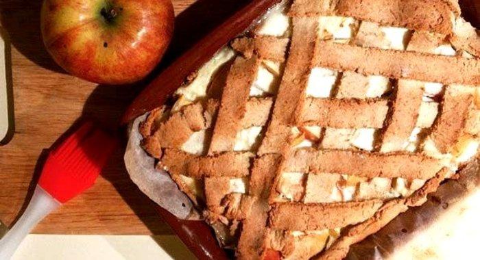 Низкокалорийный пирог с яблоками рецепт с пошагово в духовке